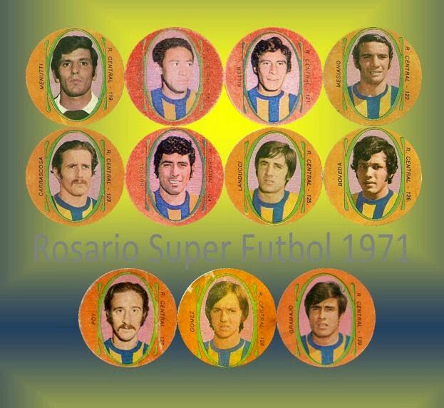 Central Rosario of Argentina team card in 1971.