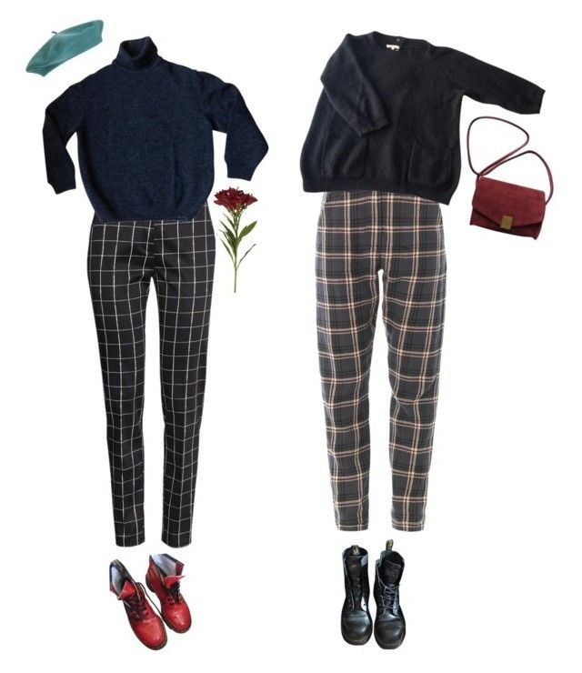 """1985"" by auroralaufeyson ❤ liked on Polyvore featuring Sandro, Dr. Martens, Zadig & Voltaire, H&M, Kenzo, OKA, women's clothing, women, female and woman"