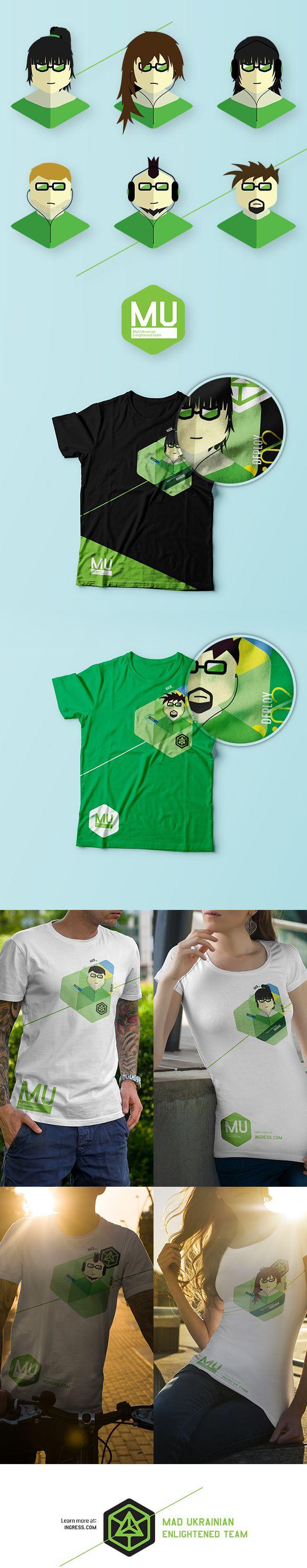 Character set for Ingress T-Shirt on Behance