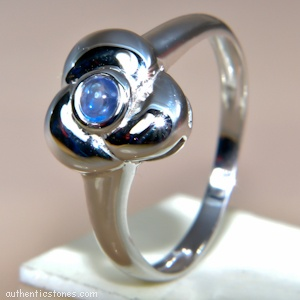 925 Sterling Silver Jewellery    Blue Sapphire Cab Silver Ring    shopping.ebizz@gmail.com
