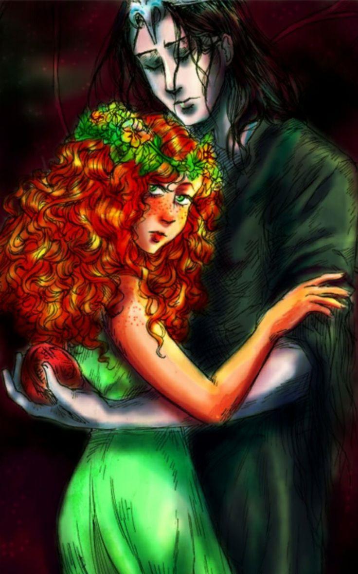 Persephone and Hades, awesome drawing!!! | Mythology 101 ...