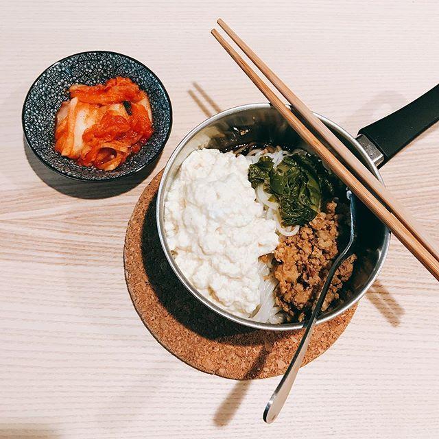 豆花米線·泡菜 #肉 #豚肉 #野菜 #拉麺 #ラーメン #らーめん #醤油 #キムチ #チリ #美味しい #おいしい #昼ご飯
