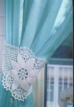 crochet curtain: crochet curtain