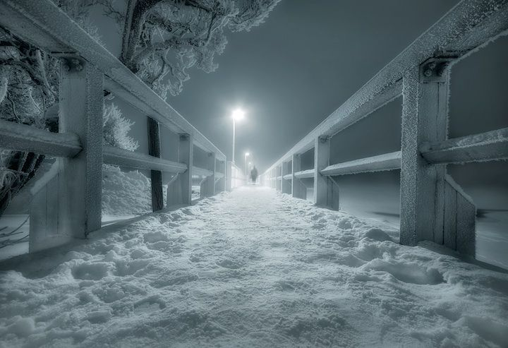 mysterious: Snow Photography, Mikkolagerstedt, Night Lights, Inspiration Photography, Snow Pictures, Graphics Design, Landscape Photography, Bridge, Mikko Stock Laid