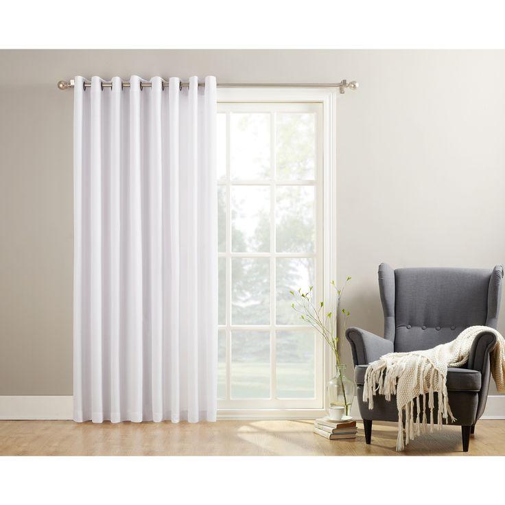No. 918 Montego Patio Extra-wide Casual Textured Grommet Patio Door Curtain Panel (