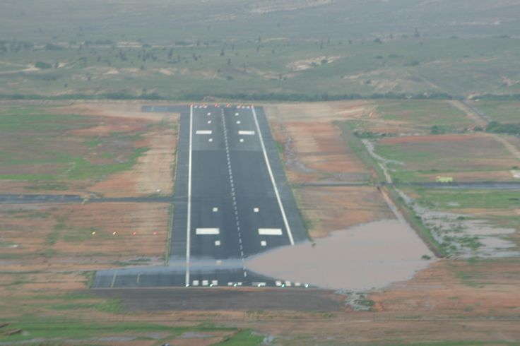Teeny runway - no lights either, so planes only take off and land in daylight.  Boa Vista Airport, Cape Verde