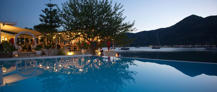 Lefkada Accommodation, Lefkada Restaurants - Seaside Restaurant and Apartments - Geni Lefkada