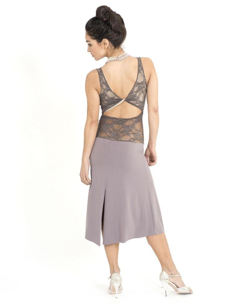 Draped neckline Tango dress | The London Tango Boutique