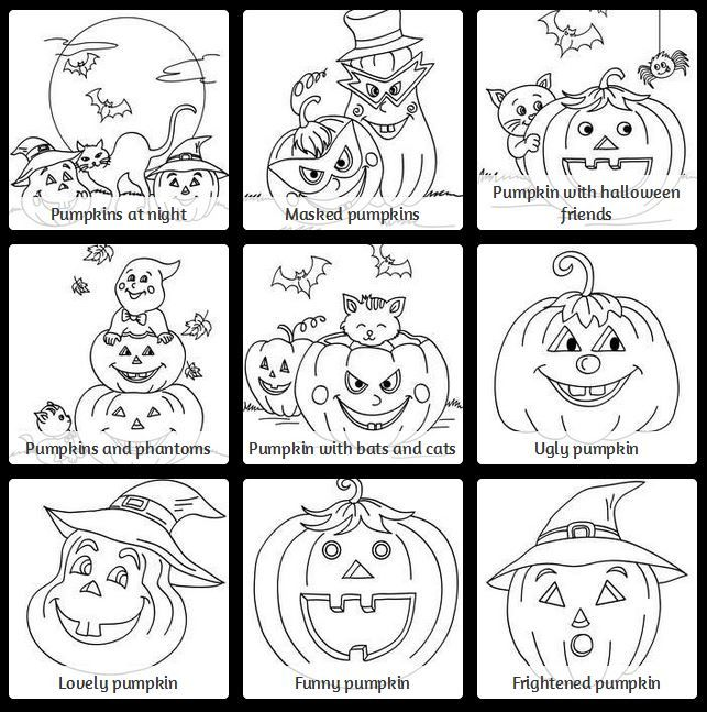 activity coloring pages halloween decorating