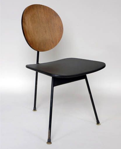 Designer: Stefan Siwinski, Three Legged Dining Chair, 1958