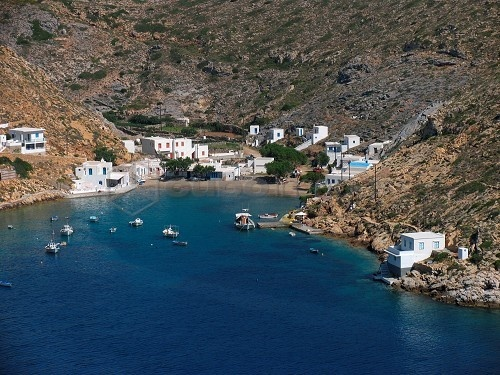 Peaceful, off the beaten track: Heronisos bay and village, Sifnos Island, Greece.