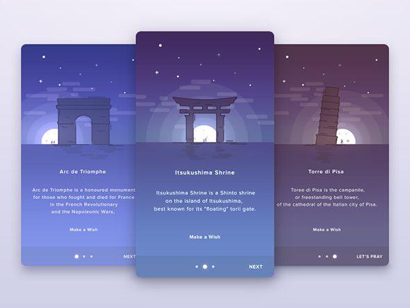 World Places Card | Ui Parade | User Interface Design Inspiration