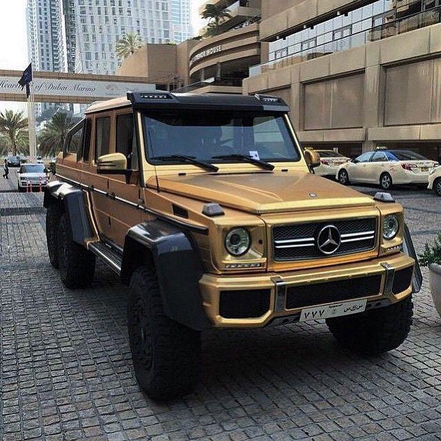 Matte gold mercedes benz 6x6 g63 amg lukas brenner for Mercedes benz g wagon 6x6