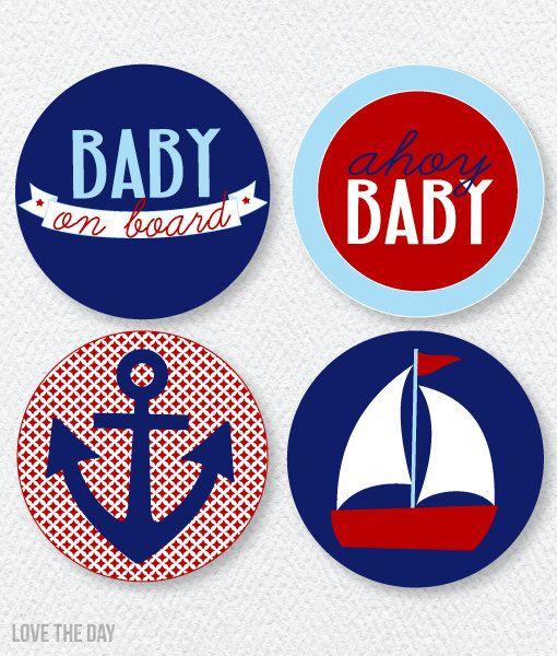 Muy buen gusto náuticos Baby Shower imprimibles por lovetheday