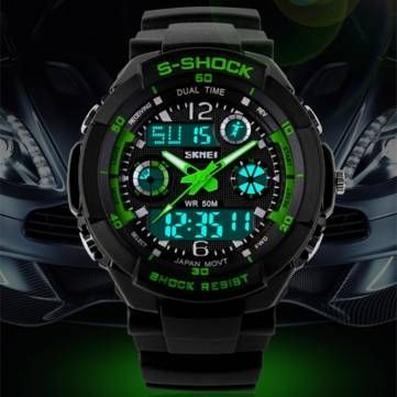 SKMEI 0931 Multi Function Digital Alarm Waterproof Men Sport Watch at Banggood