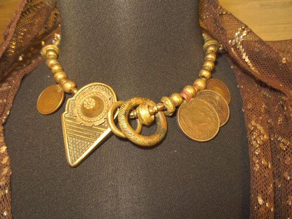 Heavy asymmetrical tribal necklace. Talhakimt necklace.  https://www.etsy.com/ru/listing/260848713/heavy-asymmetrical-tribal-necklace