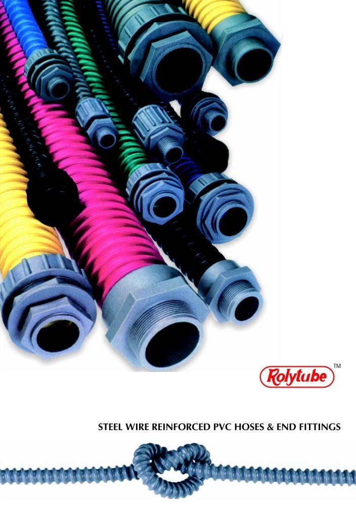 """Rolytube"" Steel Wire Reinforced PVC Flexible Pipes."