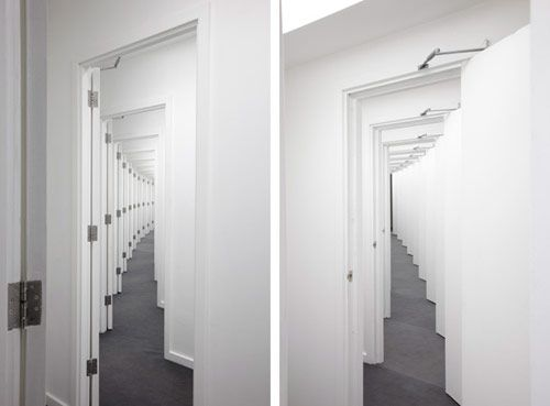 """""""Hitchcock Hallway"""", an installation of 11 rooms, by Aslak Vibæk and Peter Døssing"""