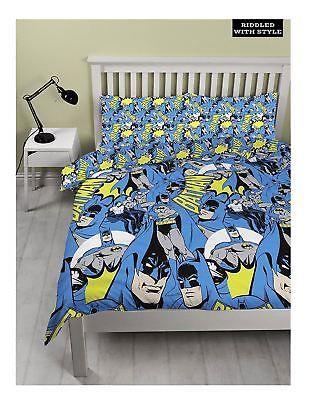 Duvet Covers and Sets 134278: Kids Dc Comic Batman Hero Double Duvet Cover Children Bed Quilt Bedding Set -> BUY IT NOW ONLY: $22.99 on eBay!