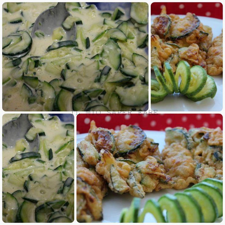 Frittatine di zucchine in pastella ricetta il mio saper fare