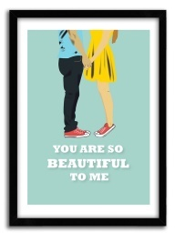 Cute Inspirational Love quote print, You are so beautiful to me, pop art, love poster,  romantic print, Love Print,  A4 Poster. $20.00, via Etsy.