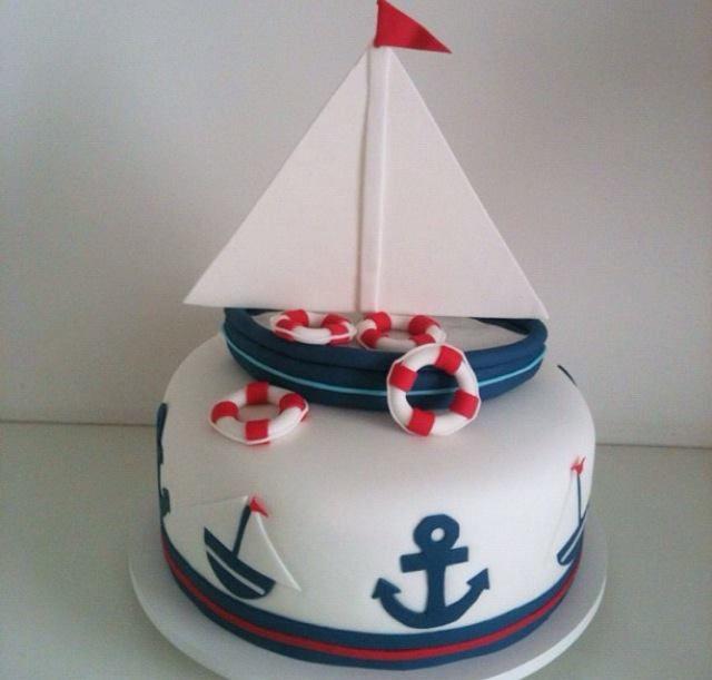 Sailing cake cake design th me marin pinterest for Decoration style marin