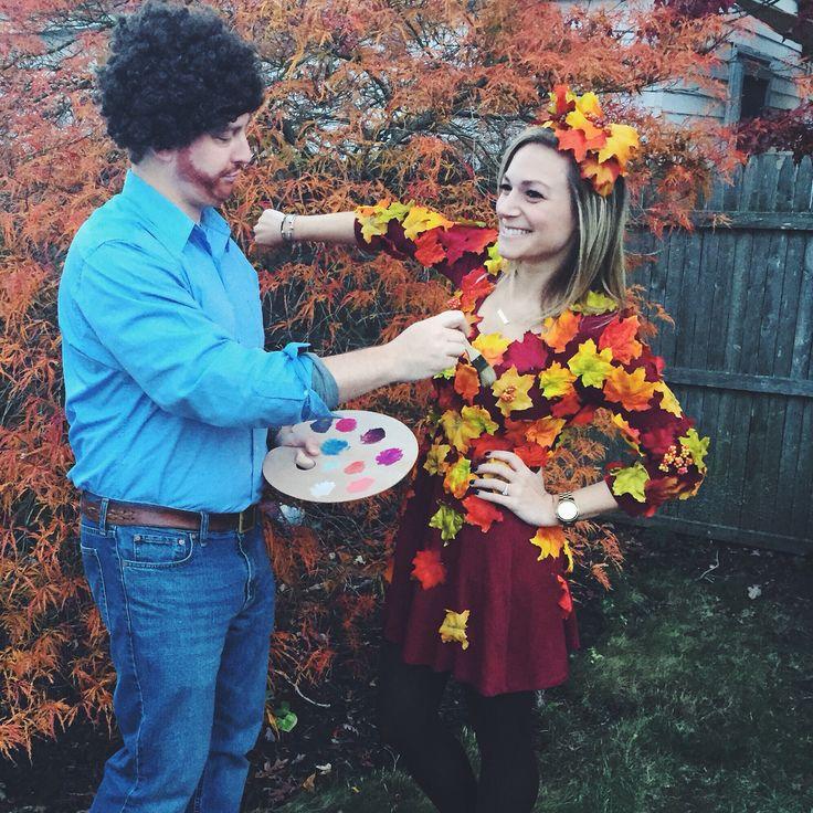 Bob Ross and a happy tree! #bobross #happytree #joyofpainting #halloween…