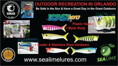 Outdoor Recreation In Orlando: Sealime Lures at 2017 ICAST on the Water Demo Day