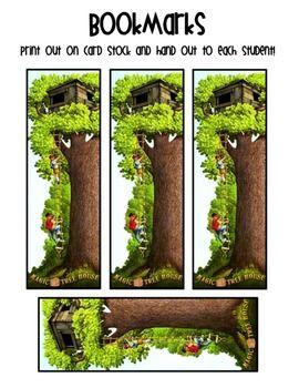 MAGIC TREE HOUSE BOOKMARKS - FREEBIE! - TeachersPayTeachers.com