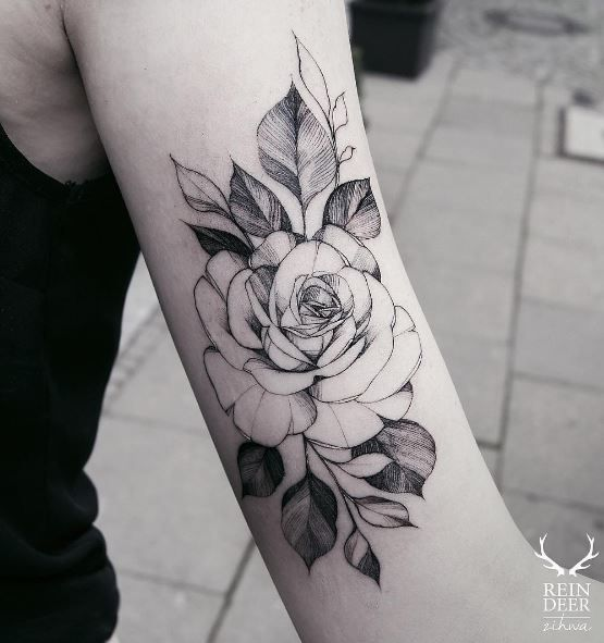 Black Ink Rose Tattoo On Girl Right Hip: 20 Best Black And Grey (Gray) Tattoos Images On Pinterest