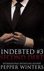"Second Debt (Indebted #3) by Pepper Winters  ""I tried to play a game. I tried to wield deceit as perfectly as the Hawks. But when I thought I was winning, I wasn't. Jethro isn't what he seems—he's the master of duplicity. However, I refuse to let him annihilate me further."" http://readersklub.blogspot.com/2015/02/most-anticipated-romance-novels-of-2015.html"