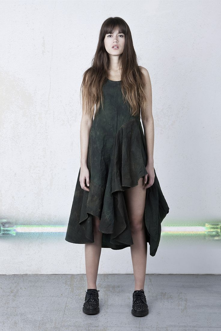 Long tank ripstop dress