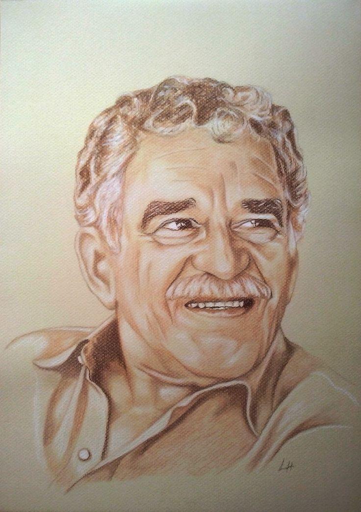 Una idea, mucho arte Gabriel García Márquez Técnica: sanguinas, 29,7 x 42 cm Autora  Laura Hernández