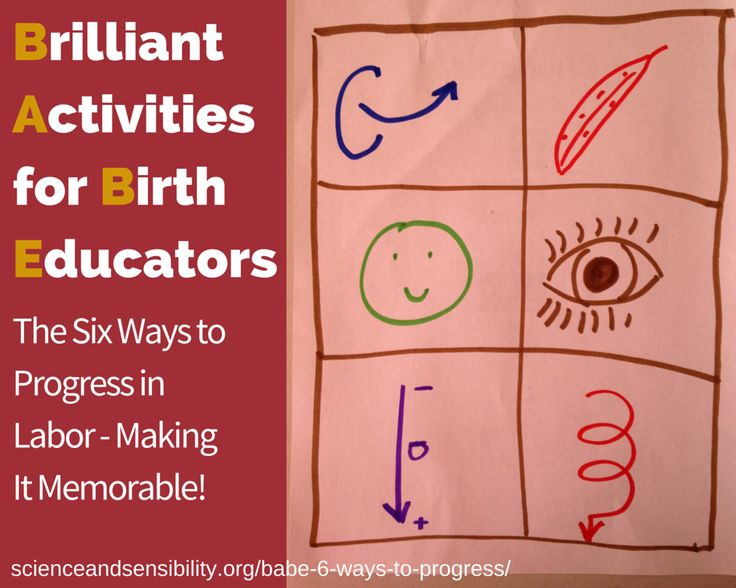 Great education idea from Sharon Muza on Science and Sensibility's BABE (Brilliant Activities for Birth Educators) blog series