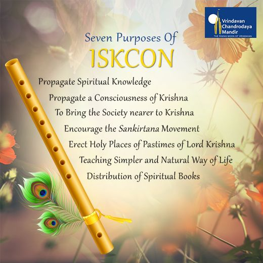#SrilaPrabhupada founded the International Society for Krishna Consciousness (ISKCON) with these 7 explicit purposes