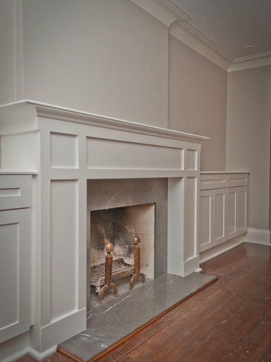 Traditional Family Room Fireplace Mantle Design, Pictures, Remodel, Decor and Ideas - page 4.