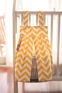 Yellow Chevron Diaper Stacker