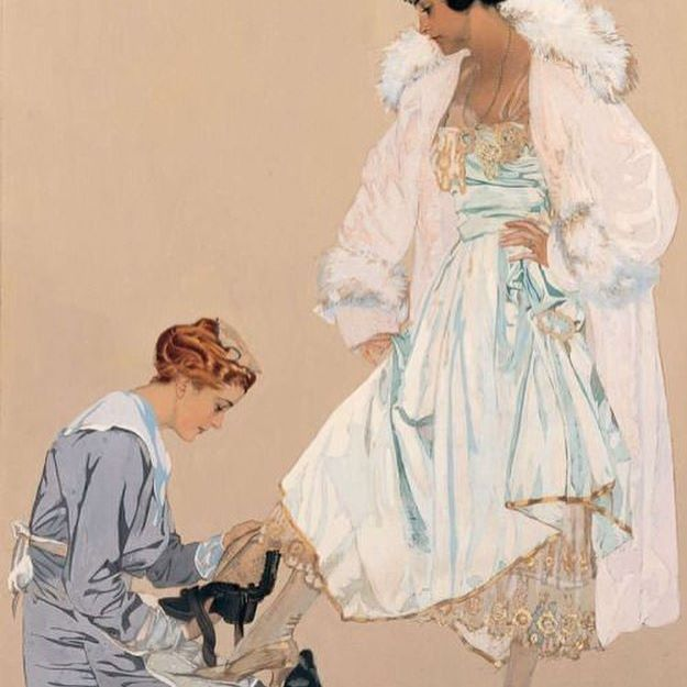 """""""I haven't all night you dimwit !""""... 😮 Clarence Coles Phillips (October 3, 1880 – June 13, 1927) was an American artist and illustrator...signing his later works simply Coles Phillips ...his illustrations for particularly Life Magazine are stunning. #colesphillips#art#artist#artwork#illustrate#illustrator#illuatrations#beautiful#lifemagazine#magazine#fashion#vintagefashion#style#pictureoftheday#love#attitude#diva#instafashion#drawing#1920s#glamour#silk#fur"""