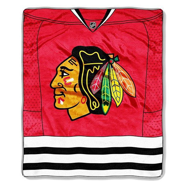 "Chicago Blackhawks Jersey Royal Plush 50"" x 60"" Throw Blanket"