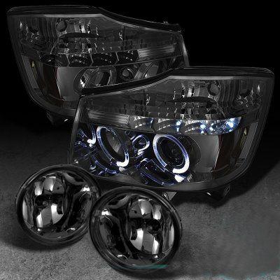 Nissan Titan 2004-2012 Smoked Projector Headlights and Fog Lights