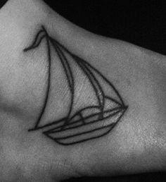 tattoo on Pinterest | Sailboat Tattoos, Sailboats and Boats