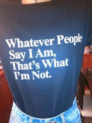 Arctic Monkeys T-shirt Whatever people say I am, that's what I'm not