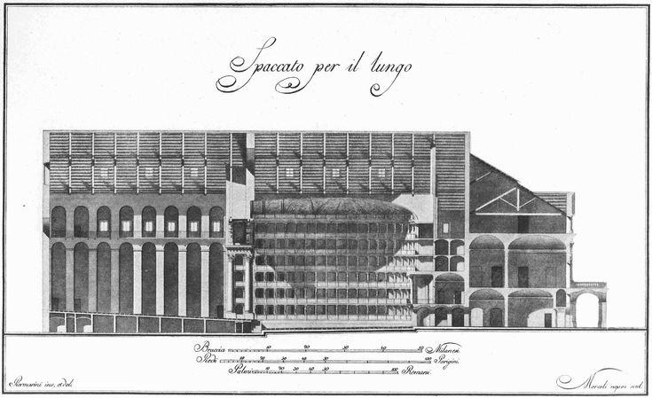 Design Scala disegno : piermarini house milano scala opera original project teatro alla scala ...