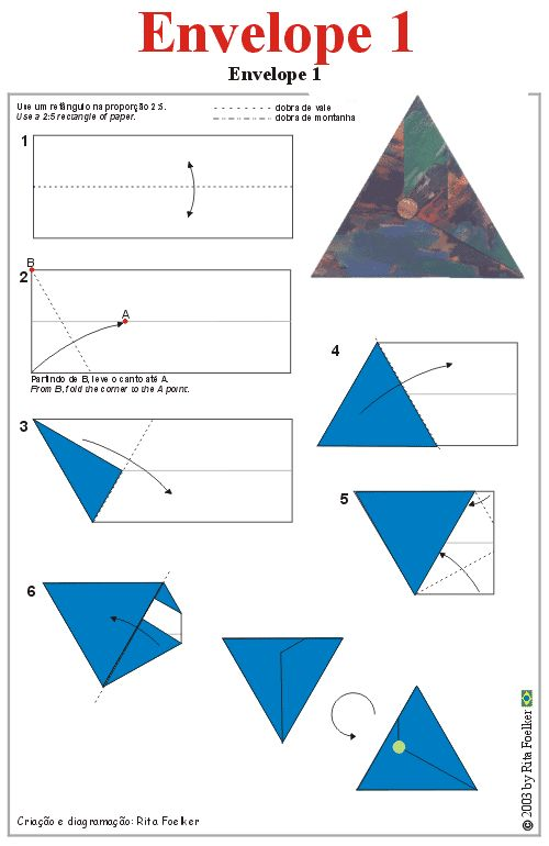 Enveloppe driehoek origami
