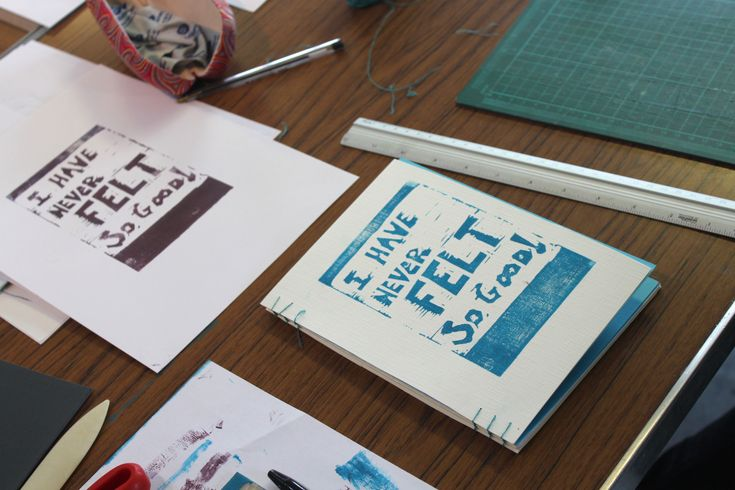 Lino Printing and Book Binding at Forest Arts Centre