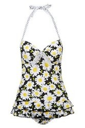 Kelly Brook Black Daisy Swimsuit