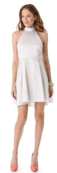 Sparkly Bachelorette Dresses - alice + olivia, bachelorette dress, silver bachelorette party dress