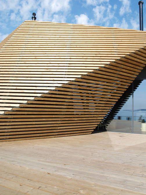 The public sauna Löyly - Hernesaari Helsinki Finland - by architects Ville Hara and Anu Puustinen, Avanto Architects.