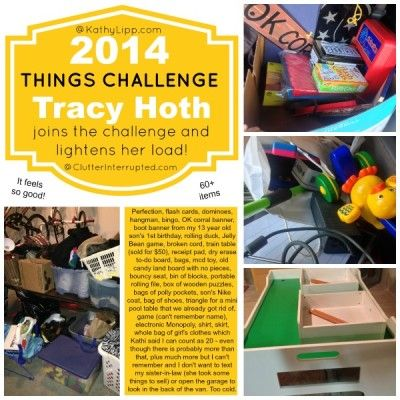 Love the idea of lightening your load. GET RID OF THE STUFF that WEIGHS YOU DOWN! Kathi Lipp is having a 2014 Things Challenge to get rid of 2014 things in 2014. Lighten up! Join in the fun!