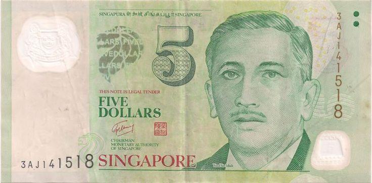 Motivseite: Geldschein-Asien-Singapur-Dollar-5.00-2010